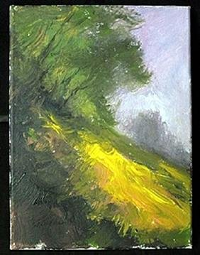 """Original Acrylic Paint on Canvas, """"Lavender Setting"""" by"""