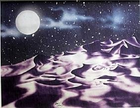 Lithograph Reno Moon - David Dory