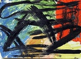 Steeplechase - Franz Kline - Oil On Paper