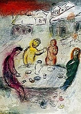 Marc Chagall - - The Meal at Dryas's House Part 1