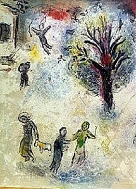 Marc Chagall - - The Meal at Dryas's House Part 2