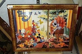"Framed Lithograph ""Disney Babies"""