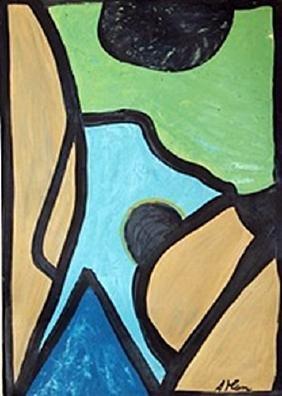 Composition - Jean Michel Atlan - Oil On Paper