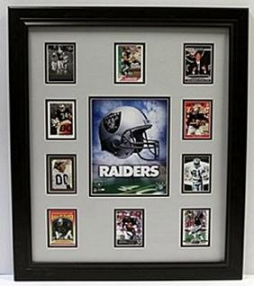 10 Cards with Licensed Photo of The Los Angeles Raiders