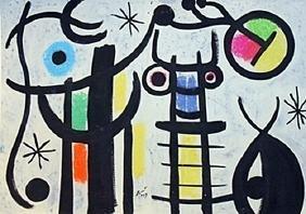 The Beach - Joan Miro - Oil On Paper