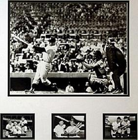 Mickey Mantle Matted Photographs