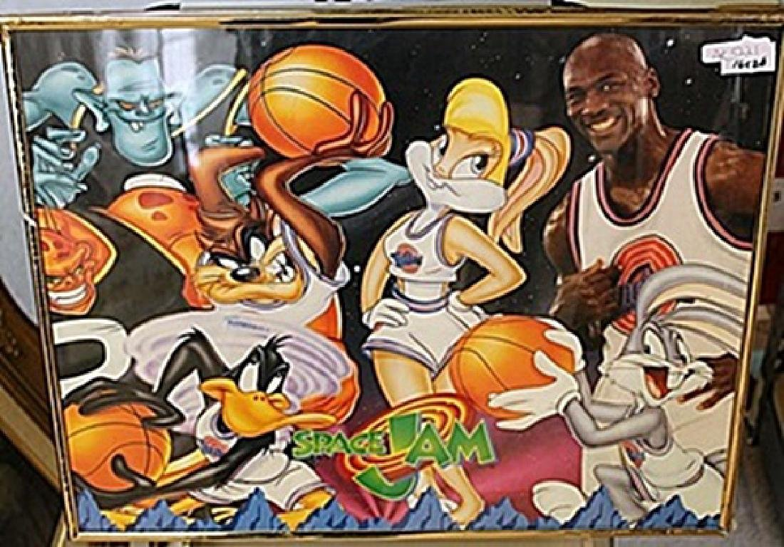 "Framed Lithograph ""Space Jam"""