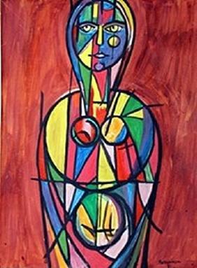 Woman - Rene Portocarrero - Watercolor On Paper
