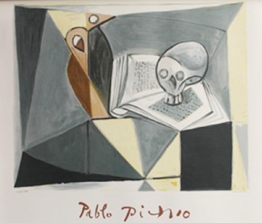 """Lithograph """"Tete De Mort Et Liure"""" By Pablo Picasso"""