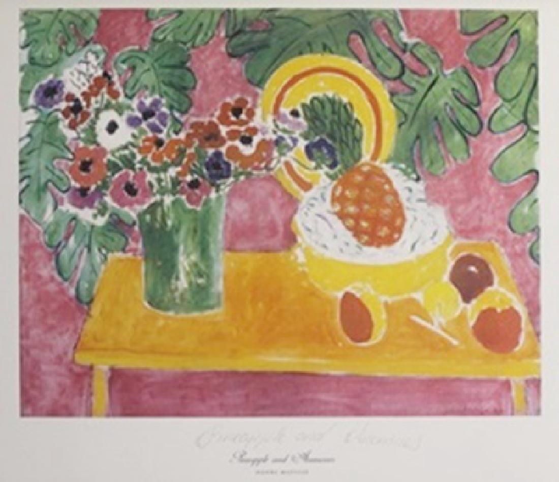 Print Pineapple and Anemones - Henri Matisse