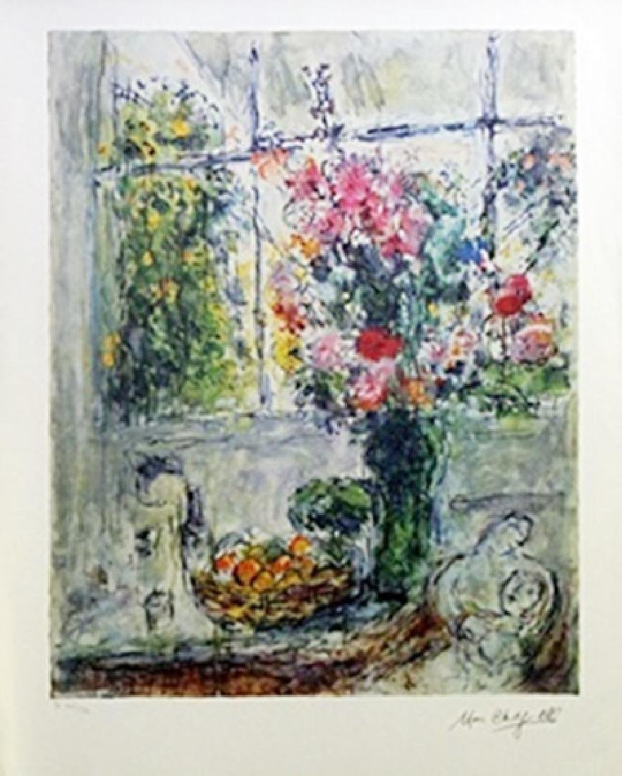 Lithograph - Still Life with Flowers - Marc Chagall