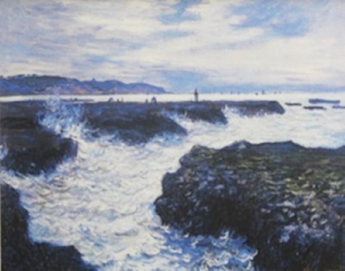 Lithograph Sea Scape - Claude Monet