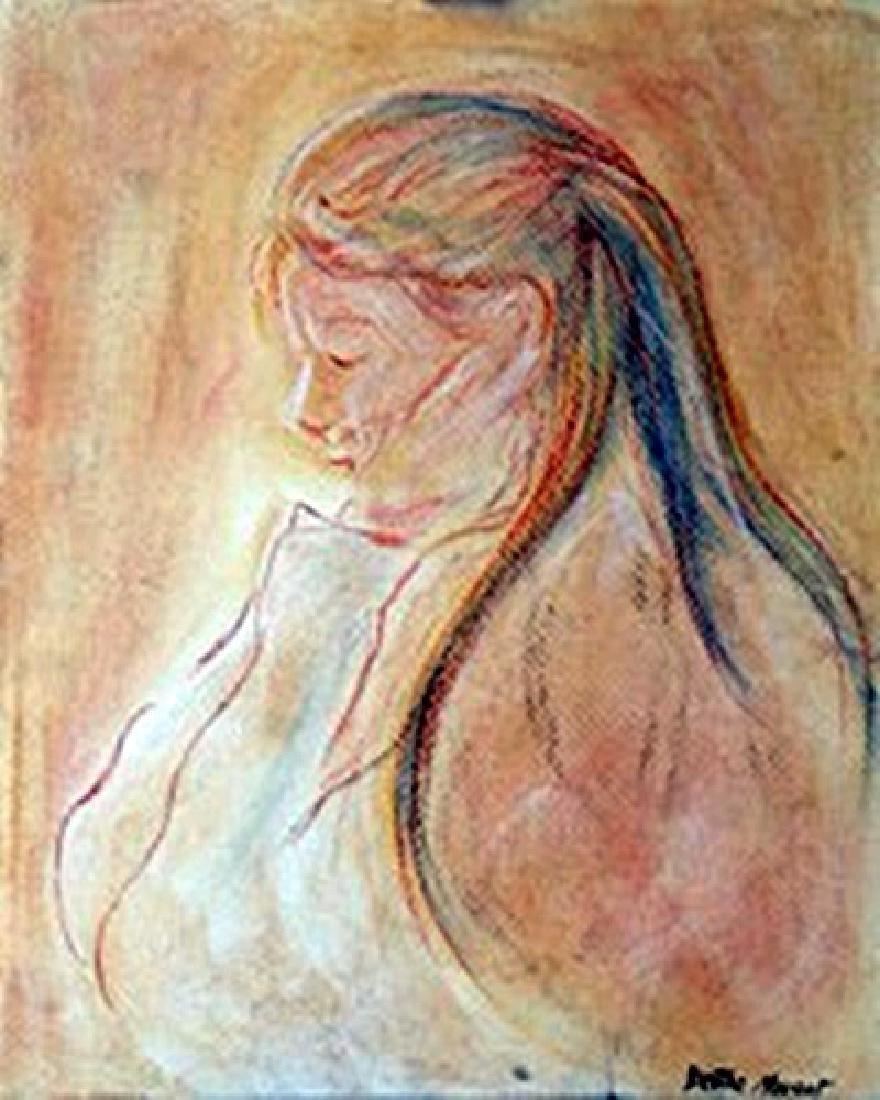 Ms. Egene - Berthe Morisot - Pastel On Paper