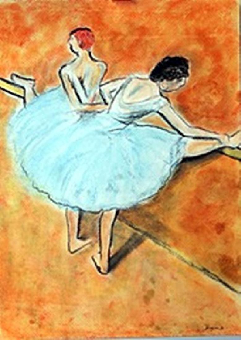 The Dancers - Edgar Degas - Pastel On Paper