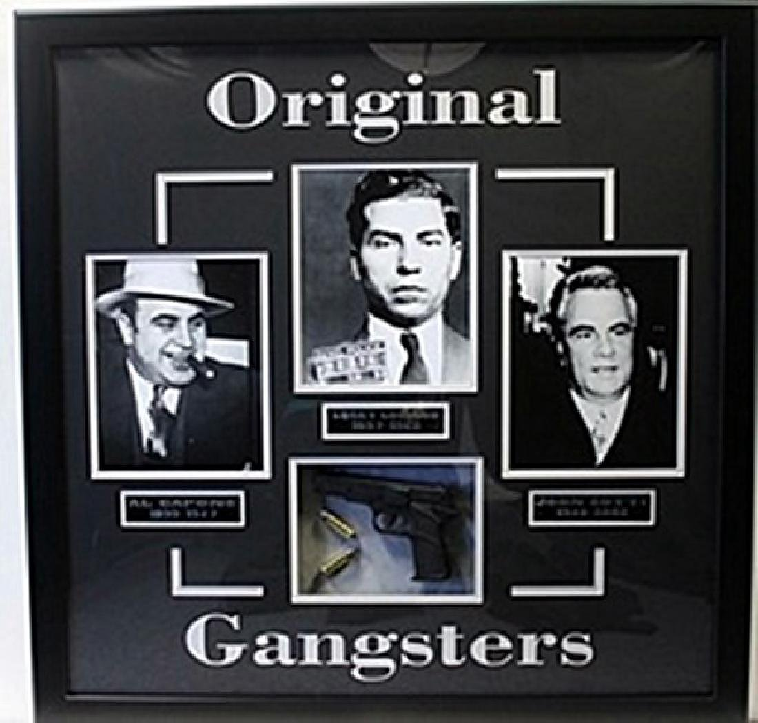 Original Gangsters Movie Photo Collage W/ Model Gun,