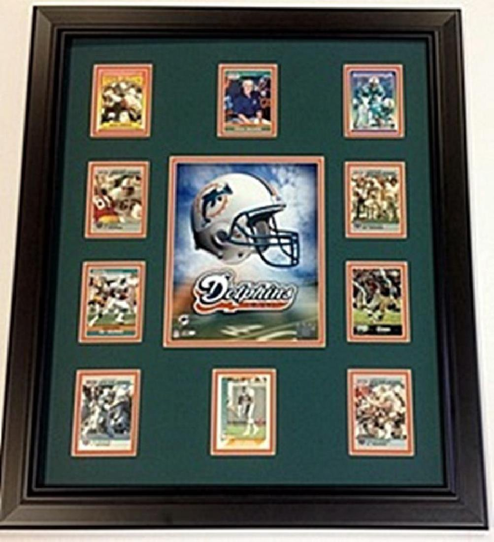 10 Cards with Licensed Photo of The Miami Dolphins