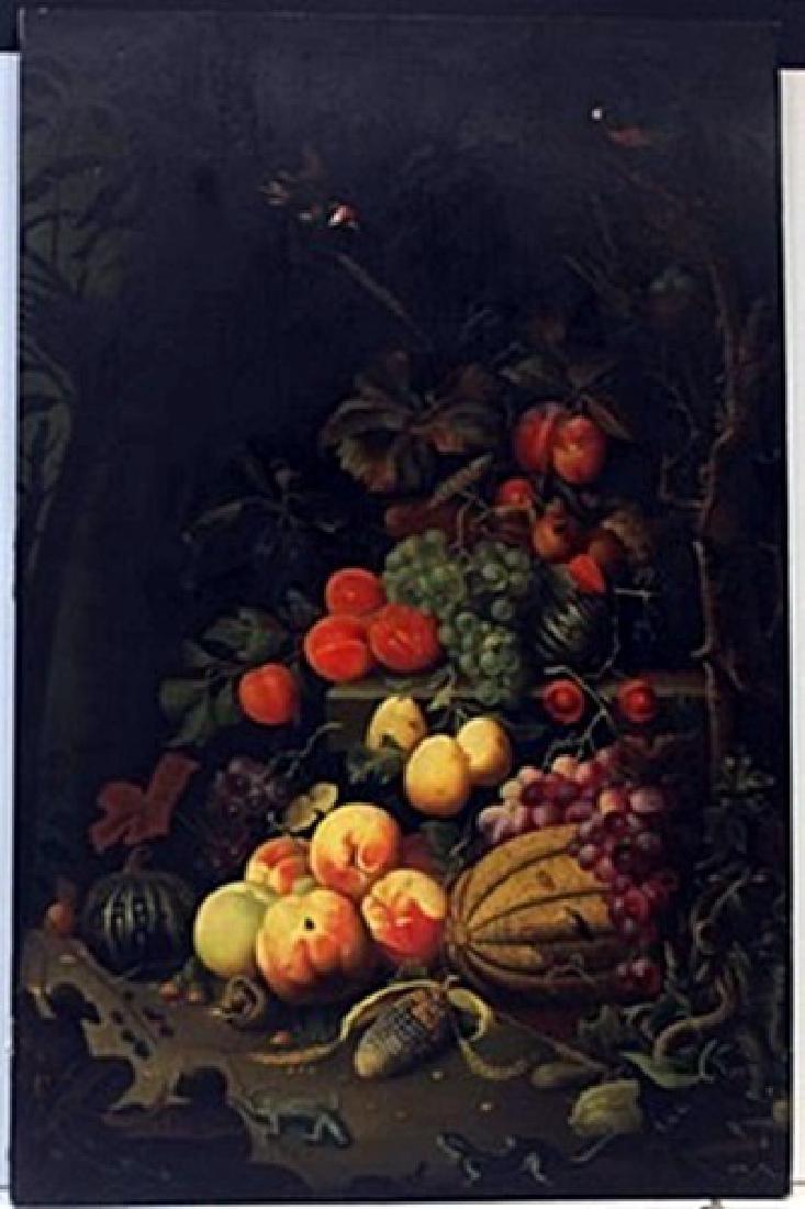 Original Oil on Wood   Abraham Mignon Fecit
