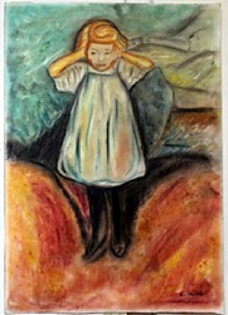 Pastel Painting on Paper -  Edvard Munch