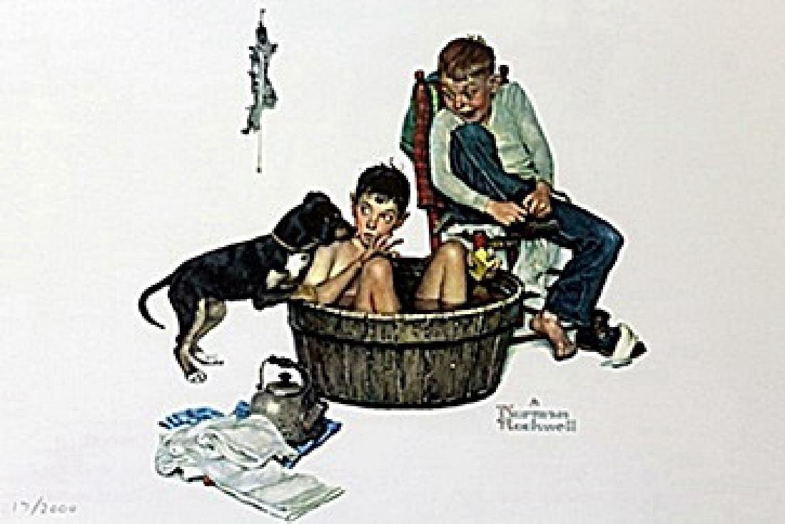 """""""Lickin Good Bath"""" by Norman Rockwell"""