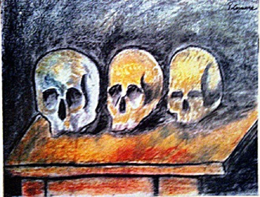 Paul Cezanne - Three Skulls