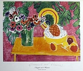 Print Pineapple And Anemones - Henri Matisse