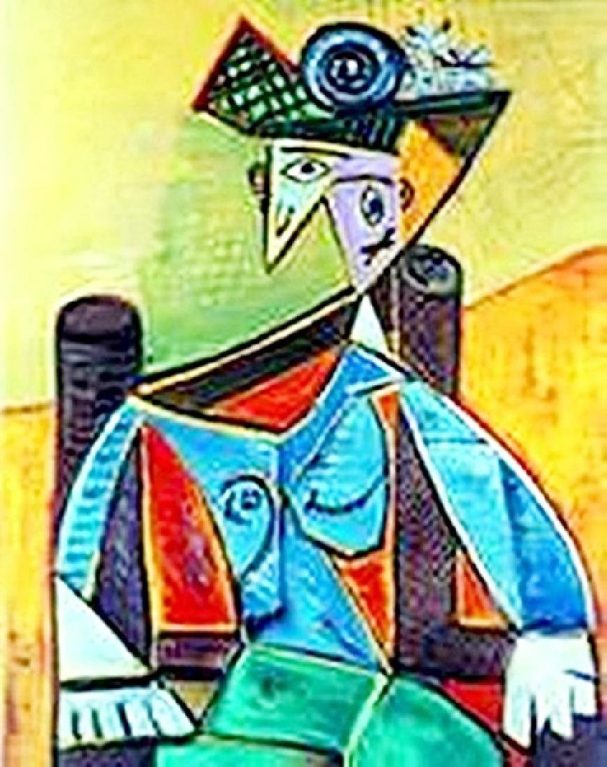 woman in an armchair-collection domaine picasso