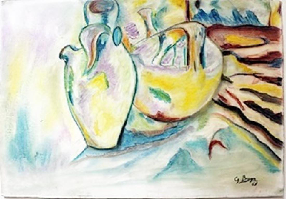 Pastel Painting on Paper -  Georges Braque