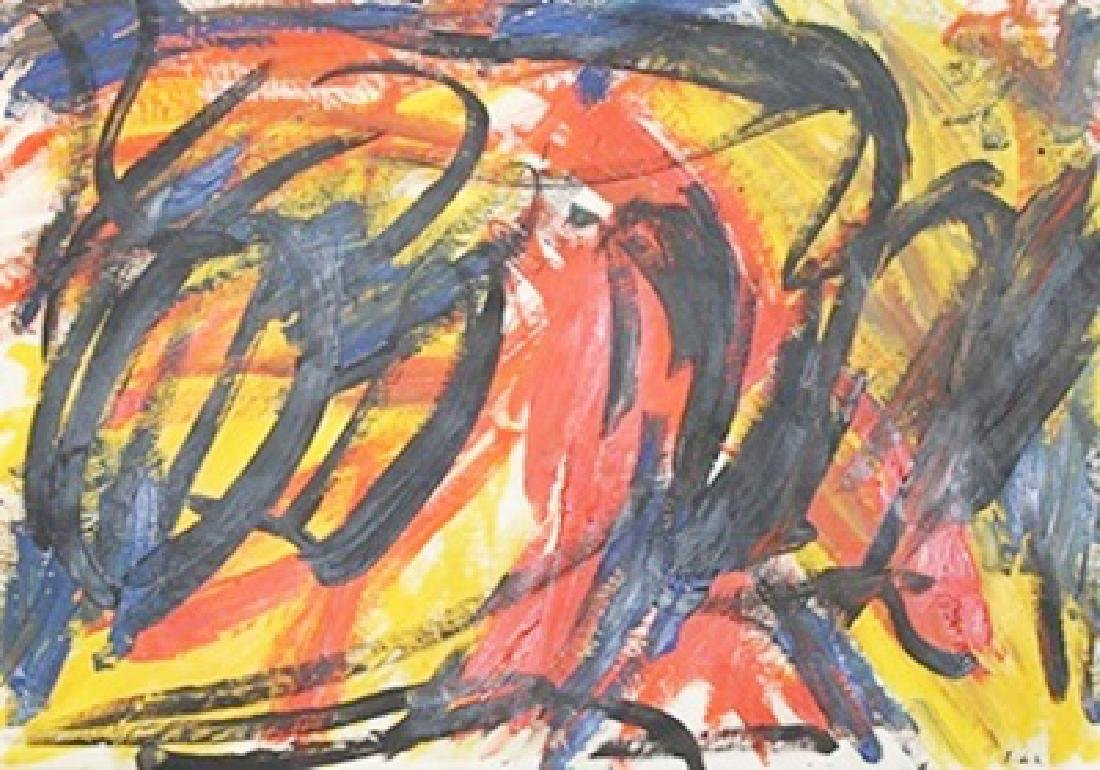 Tiger - Elaine De Kooning - Oil On Paper