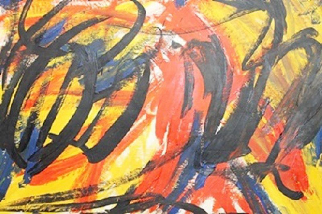Tiger - Elaine De Kooning - Oil On Paper - 2