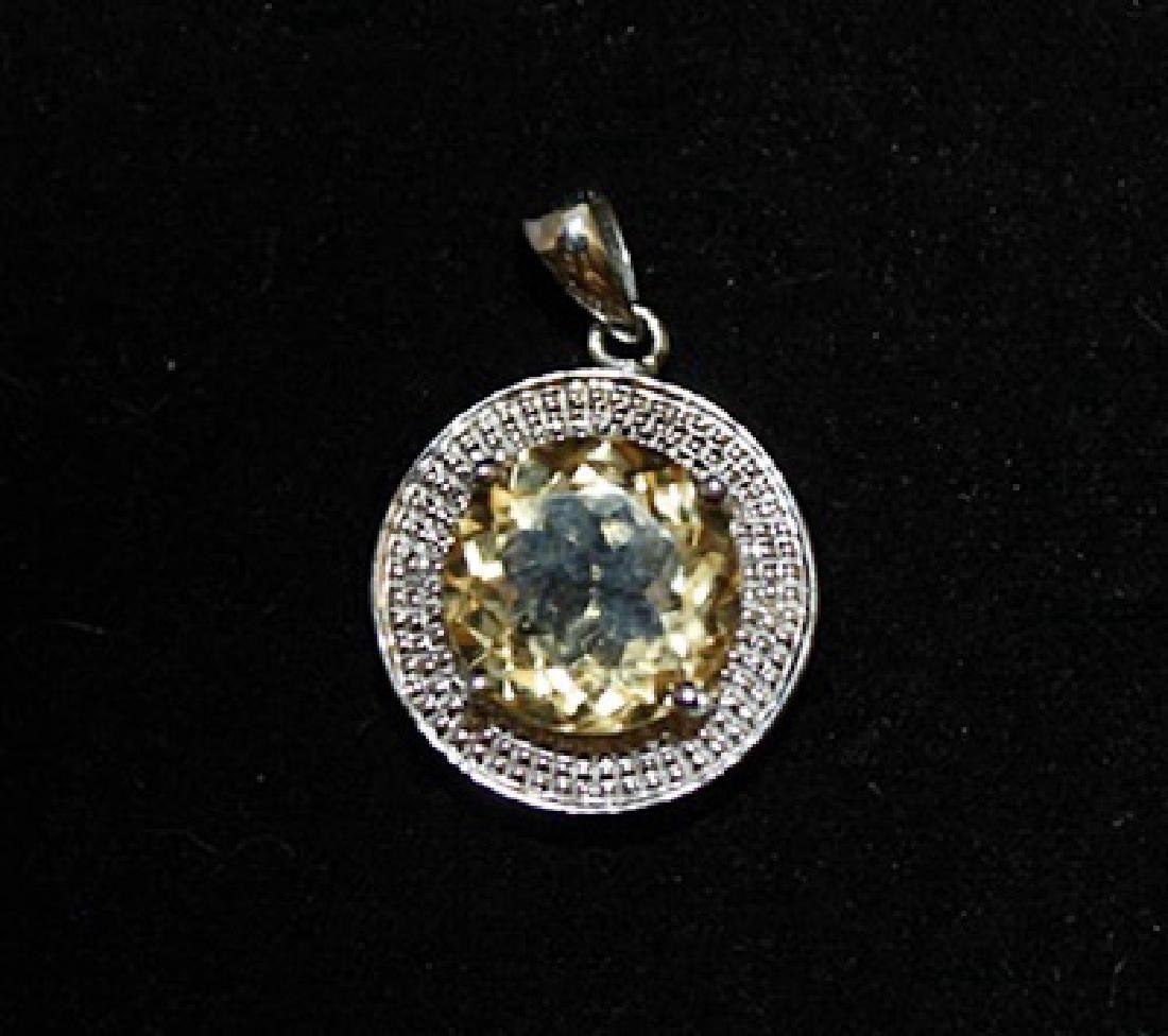 Elegant Citrine Silver Pendant (18P)