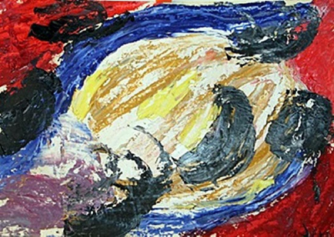 Turtle - Asger Jorn - Oil On Paper
