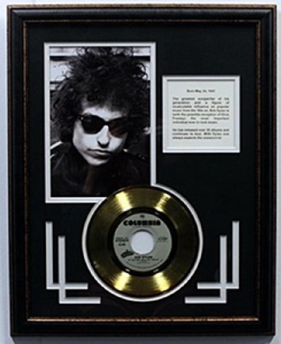 """If you see her, Say hello"" Bob Dylan Gold Record with"