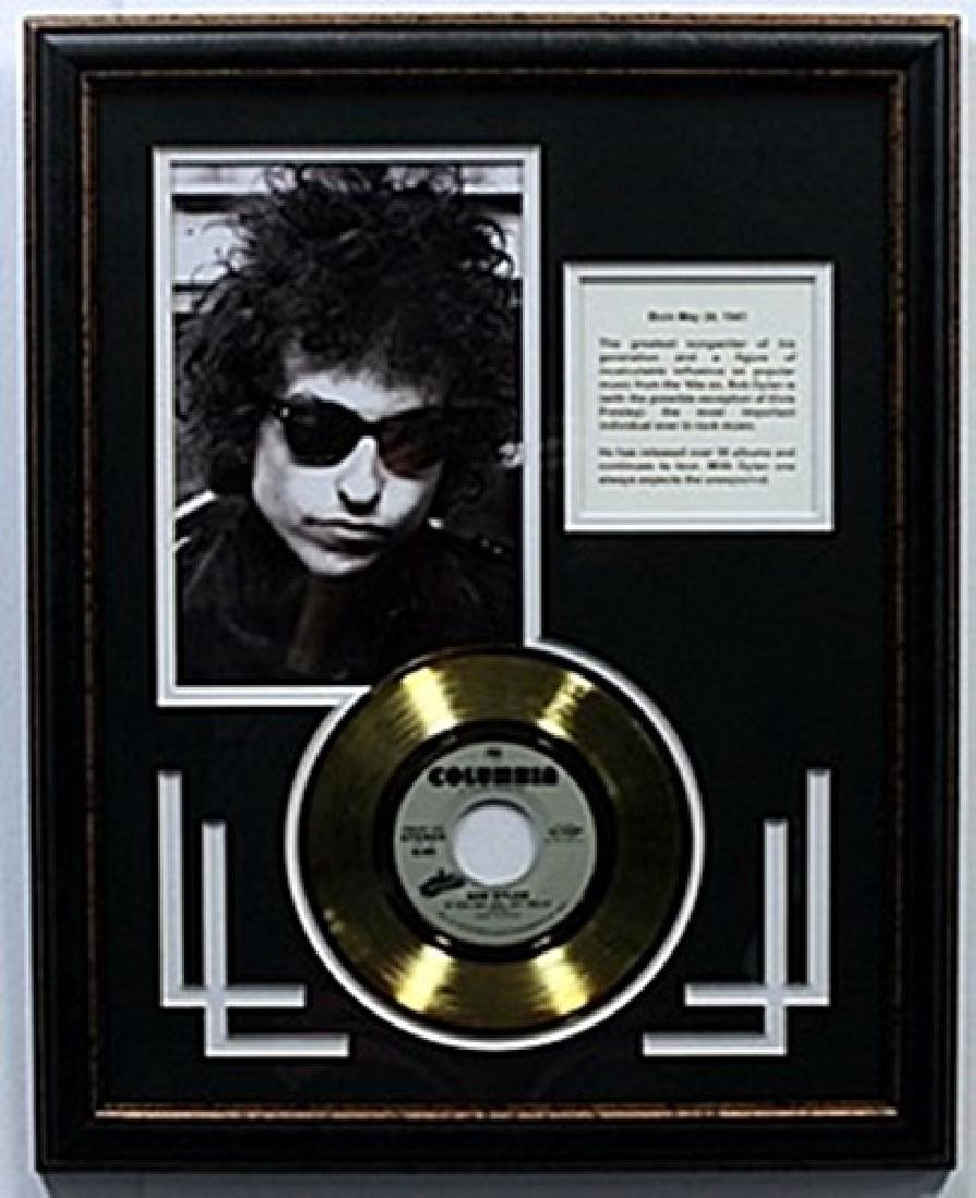 """""""If you see her, Say hello"""" Bob Dylan Gold Record with"""