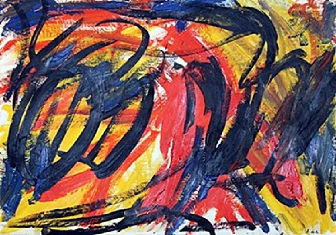 Tiger - Elaine De Kooning - Oil On Paper