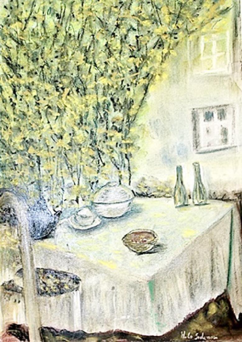 Henri Le Sidaner - Pastel On Paper