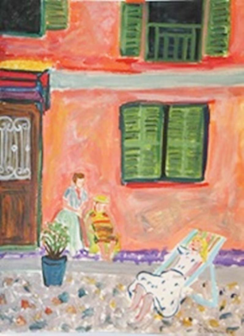 Mur Rose Aux Volets Verts, Manton - Constantin