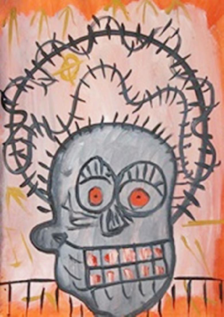 Oil On Paper - Jean Michael Basquiat