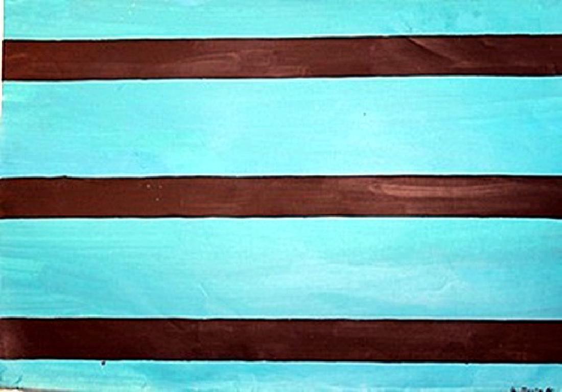 Composition - Agnes Martin - Oil On Paper