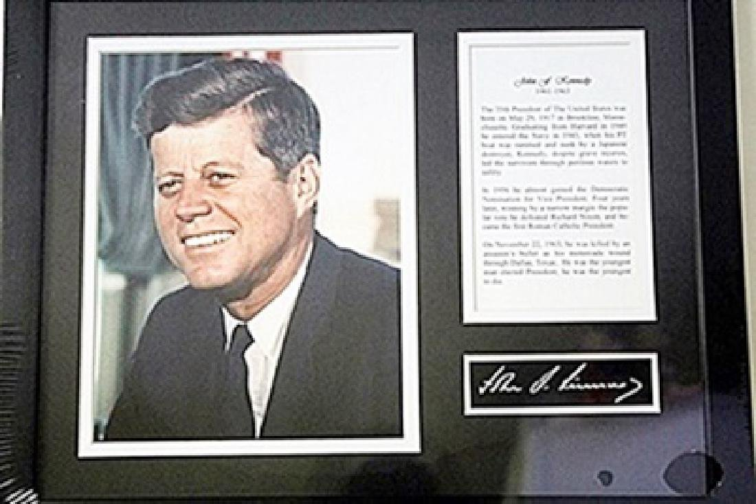 John F Kennedy Photo Giclee with Bio HE5019