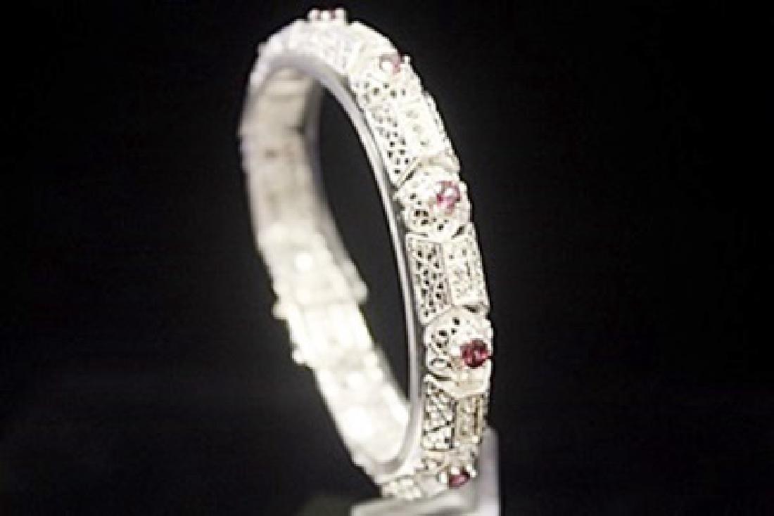 Fancy Sapphire Silver Bracelet