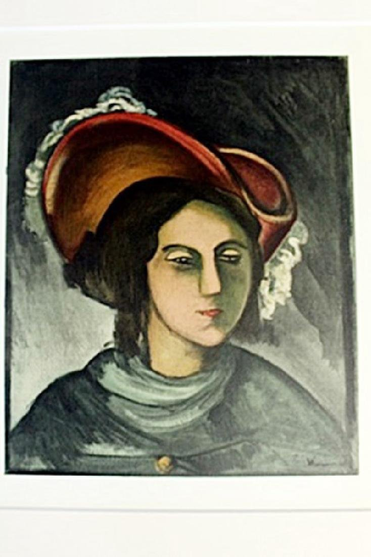 """""""Portrait of Madfleine"""" Lithograph by Valmic"""
