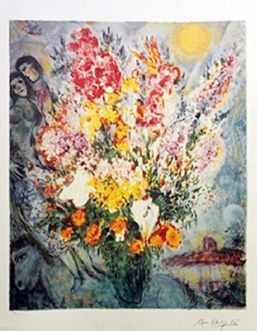 Lithograph - Bouquet de Fleurs - Marc Chagall