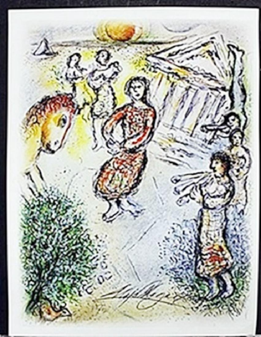 Pencil Signed Lithograph  Marc Chagall
