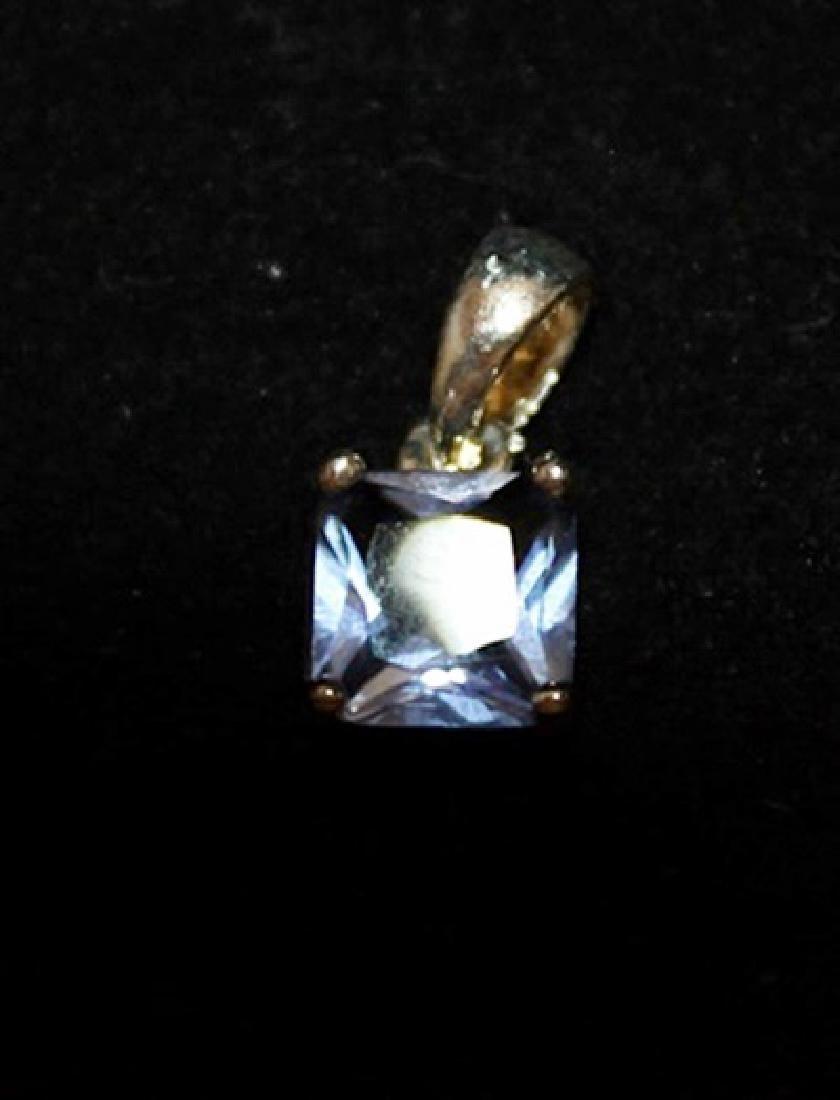 Exquisite Topaz Silver Pendant (21P)