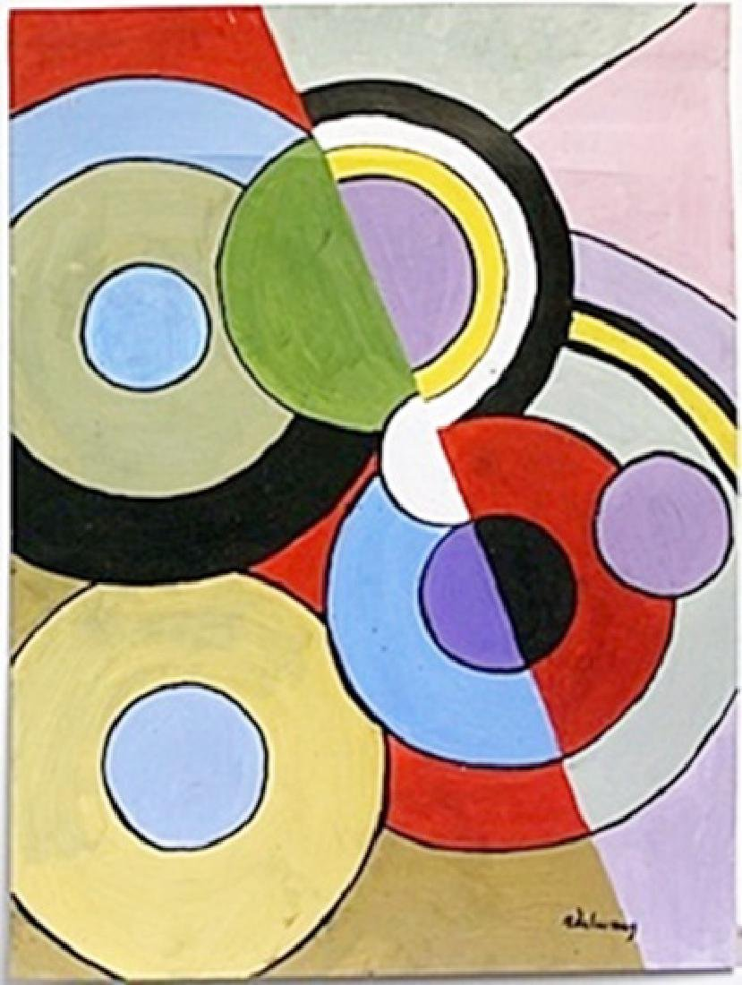 "Oil Painting ""Circunferencias"" -  Robert Dalaunay"