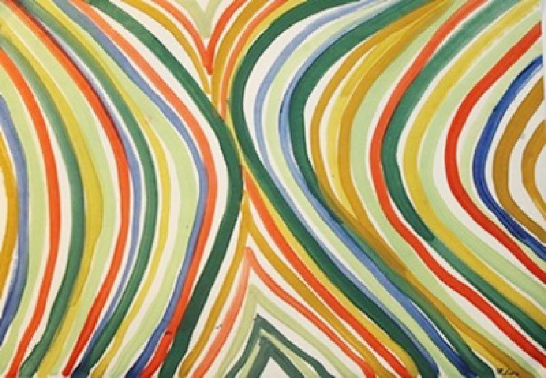 Sarabant - Morris Louis - Oil On Paper