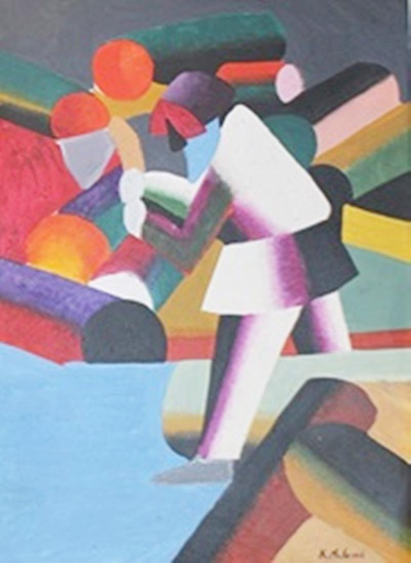 The Woodcutter - Kazimir Malevich - Oil On Paper