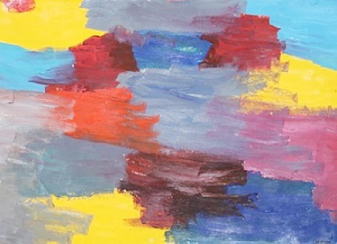 The Wall - Giorgio Cavallon - Oil On Paper
