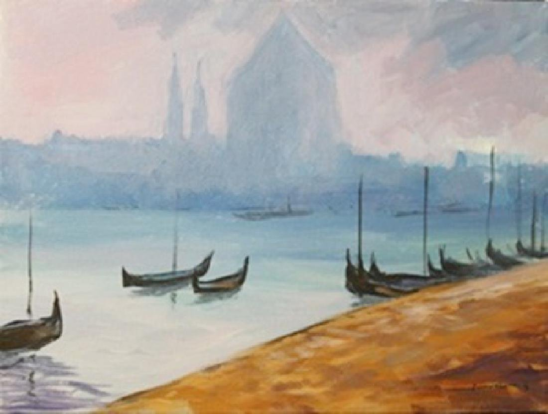 "Original Acrylic on Canvas ""Vakitan Harbor"""