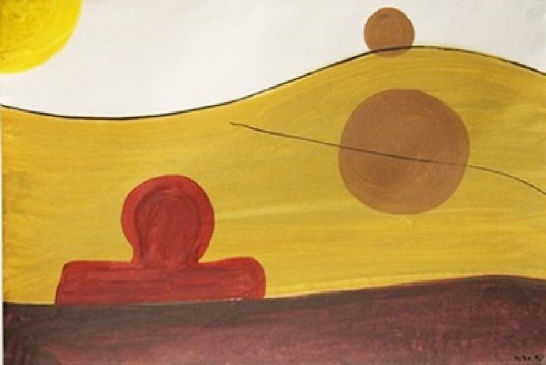 The River - Roger Hilton - Oil On Paper